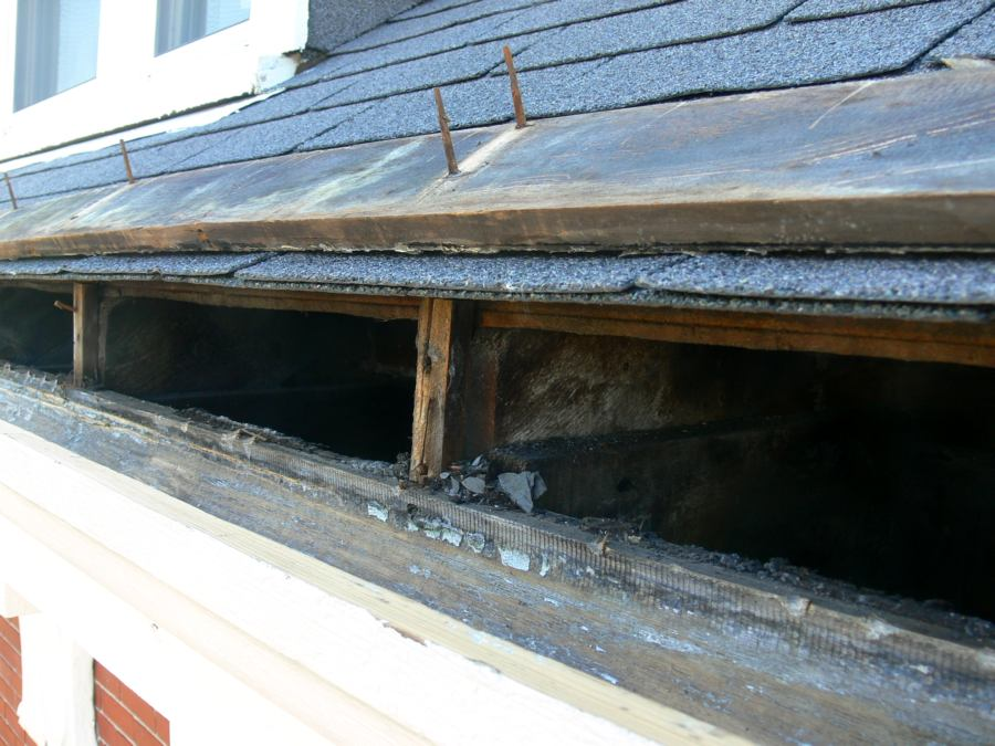 Old Growth Wood Gutter Repair Newport Ri South Side