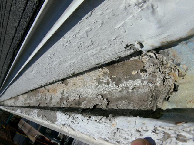 Old Growth Wood Gutter Repair Newport Ri South Side