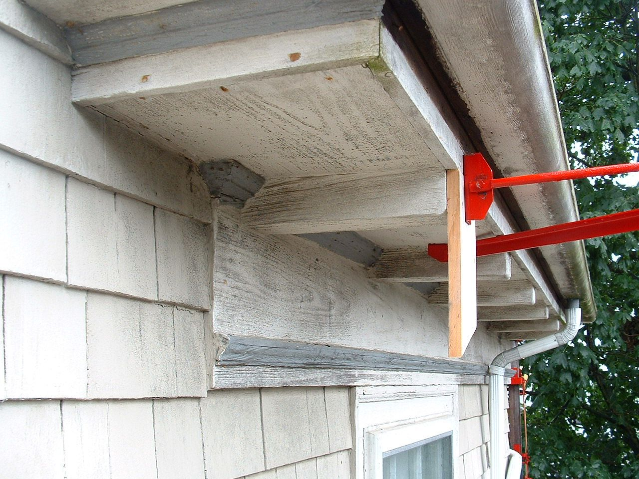 Wood Gutter Repair The West Side South End 16 Foot 4