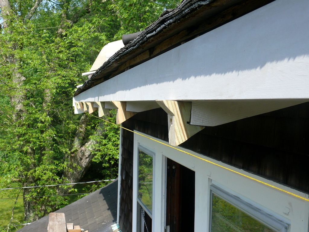 Installation Of A New Wood Gutter On A C1920 Craftsman